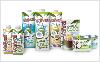 Also selected by the jury, pink coconut water from the Belgian company Vaivai.