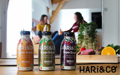 New products are designed for on-the-go use,  such as Hari&Co's organic legume soup.
