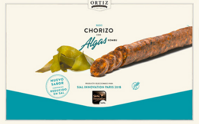 The Embutidos Ortiz chorizo is combined  with the kombu algae to create a new flavour.