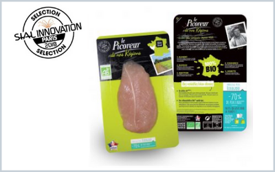 Le Picoreur has developed new packaging using 70% less plastic than the previous ones for  packing up its poultry cuts.