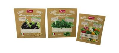 Pesticide free frozen vegetables in paper-based bag - Rolli