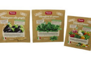 Pesticide free frozen vegetables in paper-based bag - Rolli